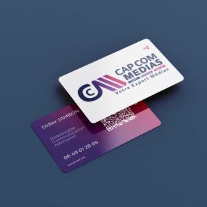 carte de visite NFC et qr code personnalisée personnalisation totale