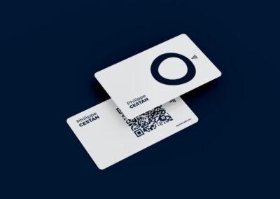carte de visite NFC et qr code personnalisée fond blanc