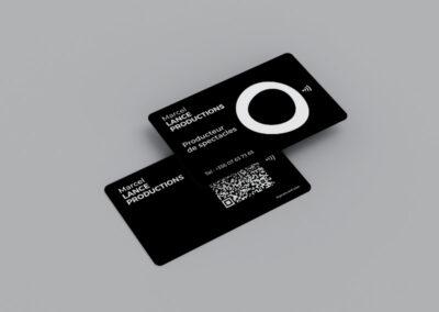 carte de visite NFC et qr code personnalisée fond noir